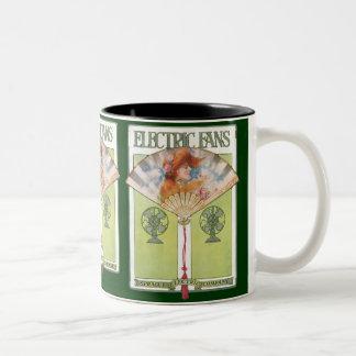 Vintage Electric Fans Two-Tone Coffee Mug