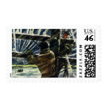Vintage Electricians Working in a Snow Storm Postage Stamps