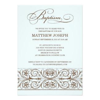 VINTAGE ELEGANCE BAPTISM INVITATION