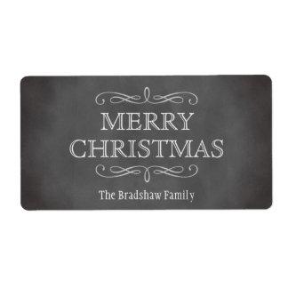 Vintage elegance chalkboard party favor gift tag label