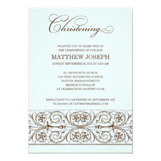 VINTAGE ELEGANCE  |  CHRISTENING INVITATION
