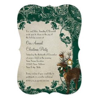 Vintage Elegance Christmas Toile Floral Damask Announcement