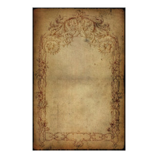 Vintage Elegance Dark 2 Stationery