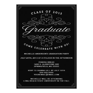 Vintage Elegance | Graduation Invitation
