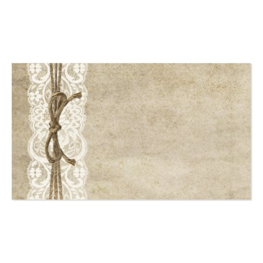 Vintage Elegance Lace On Twine Place Card Business Card
