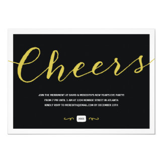 Vintage Elegance | New Year's Eve Party Card