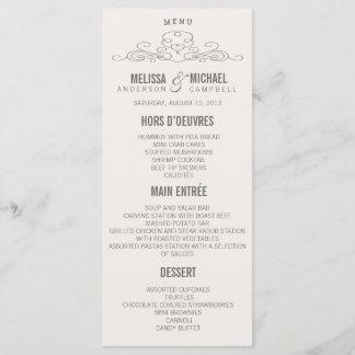 VINTAGE ELEGANCE | WEDDING MENU