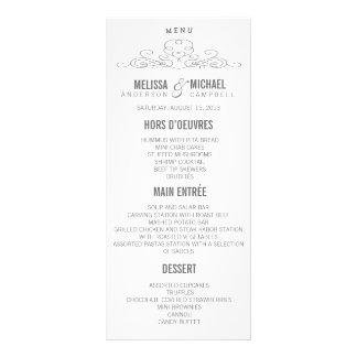 VINTAGE ELEGANCE | WEDDING MENU RACK CARD