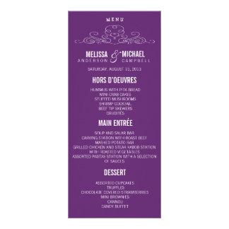 VINTAGE ELEGANCE | WEDDING MENU CUSTOM RACK CARD