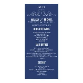 VINTAGE ELEGANCE | WEDDING MENU CUSTOM RACK CARDS