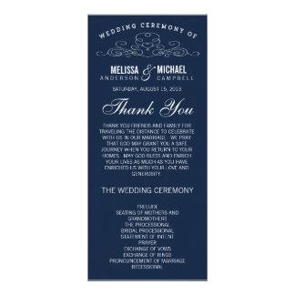 VINTAGE ELEGANCE | WEDDING PROGRAM RACK CARD