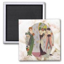 Vintage elegant 1920's ladies fashion magnet