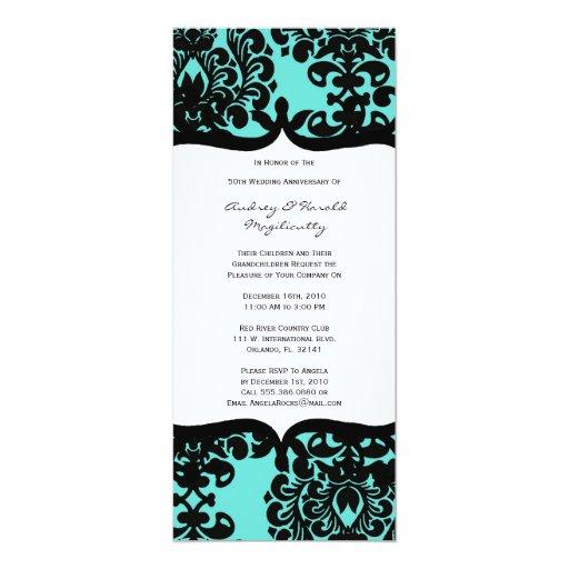 Vintage Elegant Anniversary Party Invitation