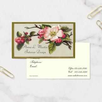 Vintage, Elegant, Apple Blossom, Business Cards