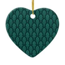 Vintage Elegant baroque green pattern Ceramic Ornament