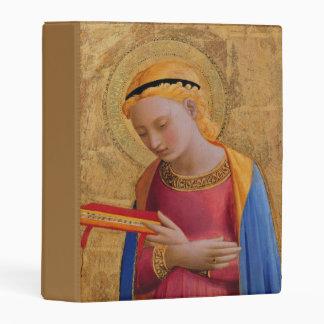 Vintage Elegant Blond Angel Holding Book Mini Binder