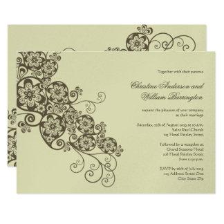 Vintage Elegant Boho Floral Paisley Wedding Invite