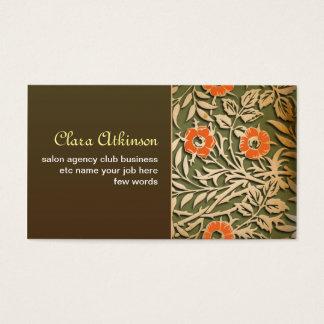 vintage elegant brown business card template