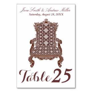 Vintage elegant chair Number Card table card