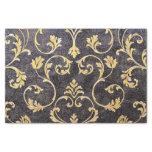 Vintage Elegant Chic Black And Gold Floral Damask Tissue Paper at Zazzle