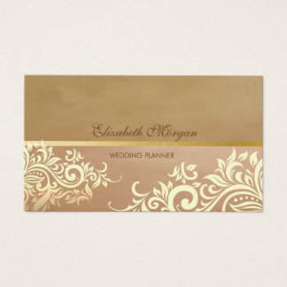 Vintage Elegant,Chic,Gold Lace Business Card