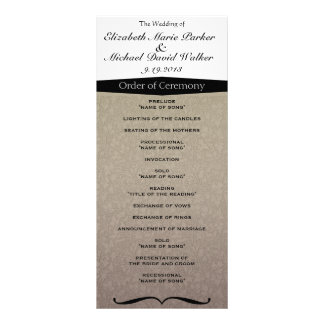 Vintage Elegant Classy Damask Personalized Rack Card