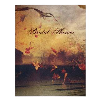 vintage elegant country wedding bridal shower card