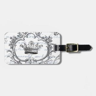 Vintage Elegant Crown...luggage tag
