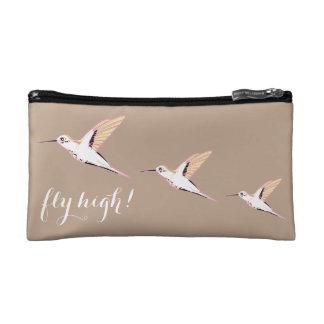 Vintage elegant exotic Japanese hummingbirds Makeup Bag
