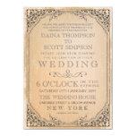 Vintage Elegant Filigree Frame Border Wedding Custom Announcement