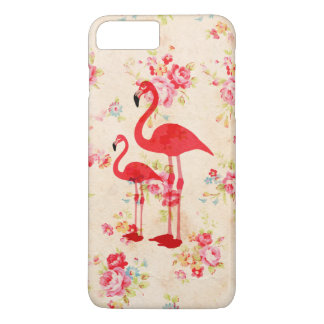 Vintage elegant flamingos red roses floral iPhone 8 plus/7 plus case