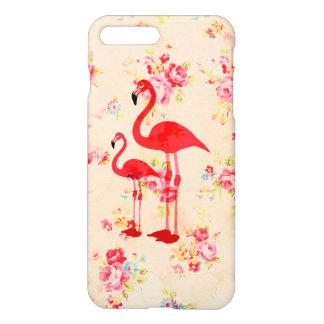 Vintage elegant flamingos red roses floral iPhone 8 plus/7 plus case