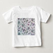 Vintage Elegant Floral Pattern Baby T-Shirt