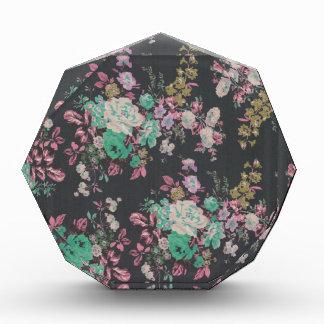 vintage elegant flowers floral theme pattern acrylic award