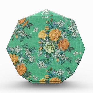 vintage elegant flowers floral theme pattern award
