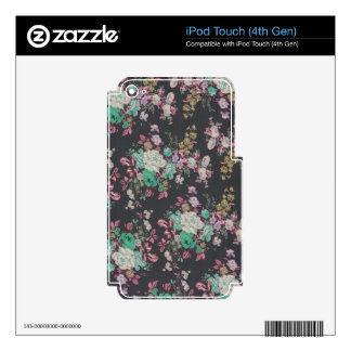 vintage elegant flowers floral theme pattern decals for iPod touch 4G