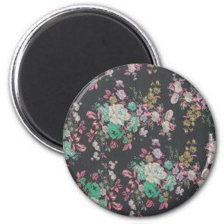 vintage elegant flowers floral theme pattern magnet