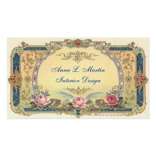 Vintage Elegant French Country Business Card