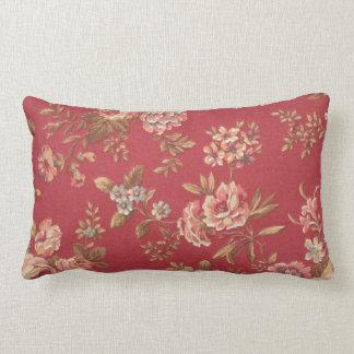 Vintage Elegant Girly Pink Red Blue Brown Roses Lumbar Pillow