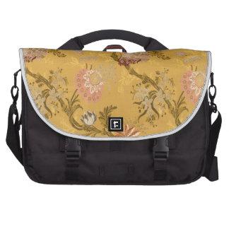 Vintage elegant  gold victorian bird pattern laptop commuter bag