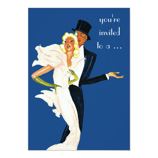 Vintage Elegant Monte Carlo Couple Dinner Party Card