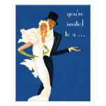 Vintage Elegant Monte Carlo Couple Dinner Party Personalized Announcements