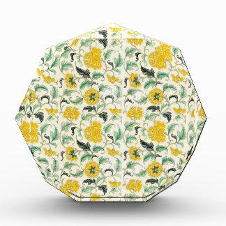 Vintage Elegant Pattern Yellow, white flowers gif Awards