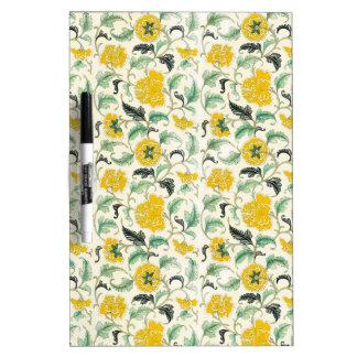 Vintage Elegant Pattern Yellow, white flowers gif Dry Erase Whiteboard