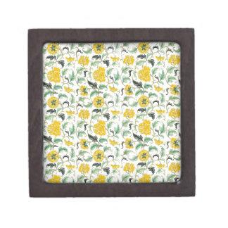 Vintage Elegant Pattern Yellow white flowers gif Premium Gift Boxes