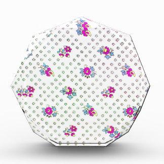 Vintage Elegant Pink Floral Pattern Acrylic Award