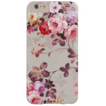 Vintage Elegant Pink Red Purple Roses Pattern Barely There iPhone 6 Plus Case