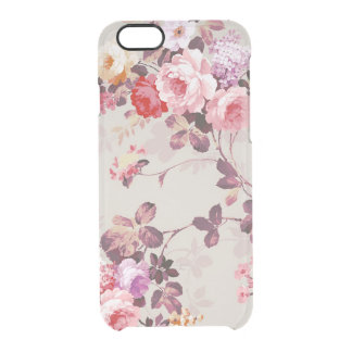 Vintage Elegant Pink Red Purple Roses Pattern Uncommon Clearly™ Deflector iPhone 6 Case