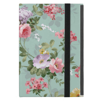 Vintage Elegant Pink Red Roses Pattern Cover For iPad Mini