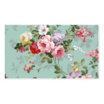 Vintage Elegant Pink Red Roses Pattern Double-Sided Standard Business Cards (Pack Of 100)